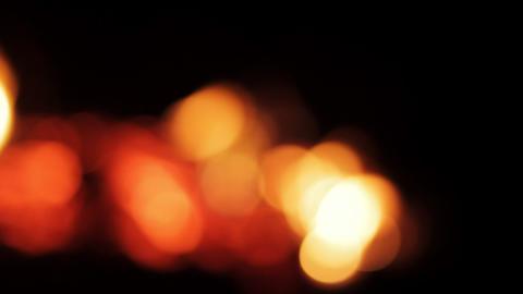 Unfocused flame of fire, orange bokeh Footage
