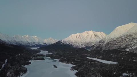 Evening Trail Lake Alaska flight VR 360° Video