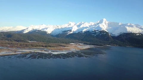 Low tide in Seward Alaska Footage