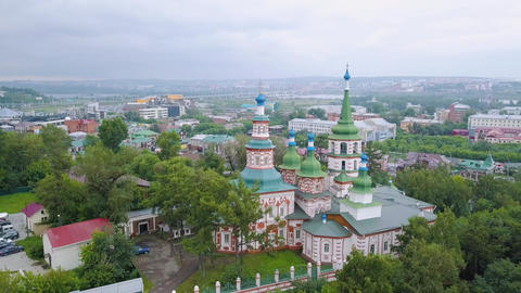 Russia, Irkutsk. Holy Cross Church, Orthodox Church, Protestant Church, From Live Action