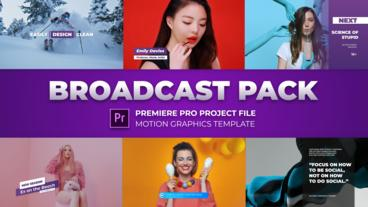 Modern Broadcast Pack Motion Graphics Template