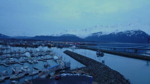 Alaskan commercial fishing boat Live Action