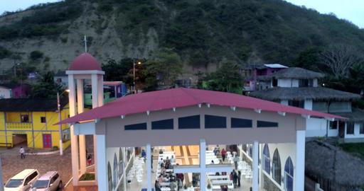 La Entrada, Ecuador - 20180914 - Drone Aerial - Drone Lowers, Revealing Peop Live Action