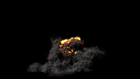 Ground Explosion With Matte, Low Point Of View Animation