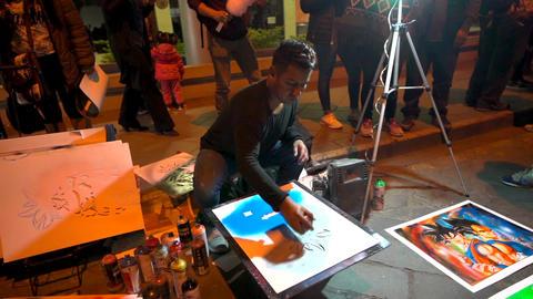 Cuenca, Ecuador - 20180602 - Spray Paint Artists - Slow Motion - Artist Live Action