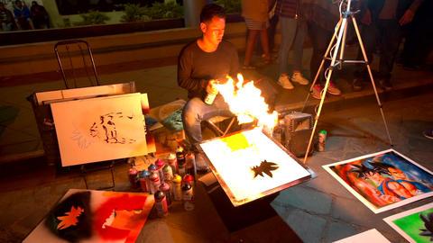 Cuenca, Ecuador - 20180602 - Spray Paint Artists - Slow Motion - Art Live Action