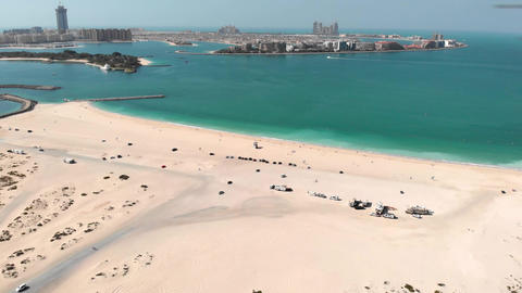 Dubai's city Al Sufouh Beach from a great height GIF