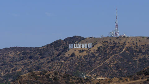 Hollywood Sign In Los Angeles California United States Of America GIF