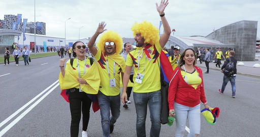 Football fans of Colombia Footage