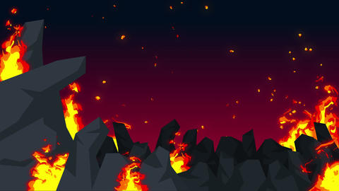Evil abstract animation, Apocalyptic hell background,…, Stock Animation