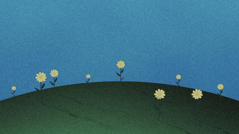 Hills and Flowers Retro Cutout Background Live Action