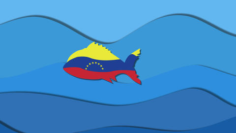 Venezuela falls into mouth huge predatory Animation