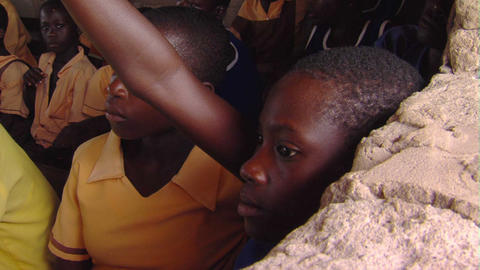 African students raising her hand Footage