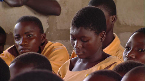 African children in a classroom Footage