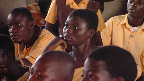 African students speaking Footage