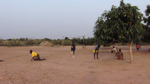 Kids playing in Africa Footage