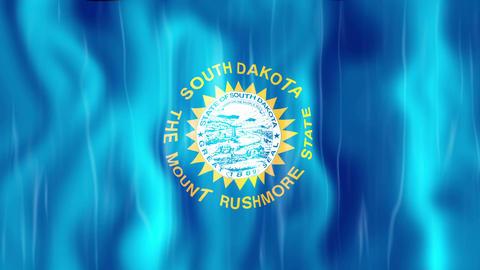 South Dakota State Flag Animation Animation
