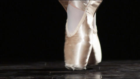 Close up of feet in ballet shoes Footage