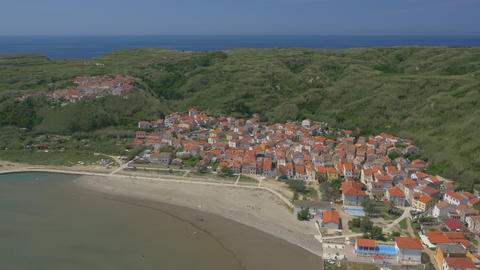 Aerial - Famous place in Croatia, island Susak and its town Live Action