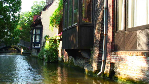 On a canal in Brugge, Belgium Live Action
