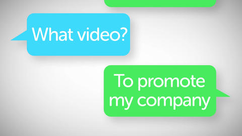 Clean Text Message Mobile Phone Texting Promo Video Business Intro Animation After Effects Template
