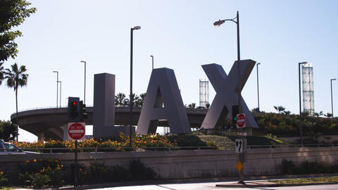 Clip of the Los Angeles Airport (LAX) sign Footage