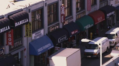 Street shops in Los Angeles Footage