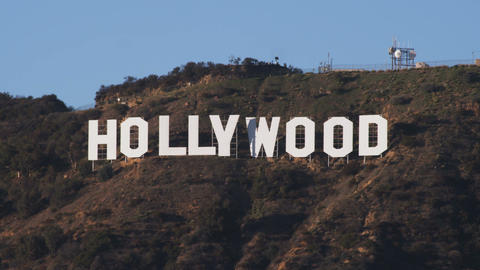Hollywood sign in California Footage