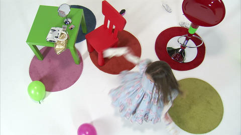 Royalty Free Stock Footage of Overhead shot of young twins playing Footage