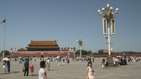 Panorama of Tiananmen Square in China Footage
