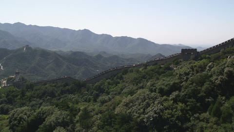 Panning the Great Wall of China at Badaling near Bejing, China Footage