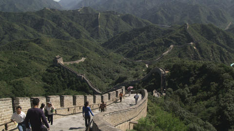 Clip of the Badaling section of the Great Wall of China Live Action