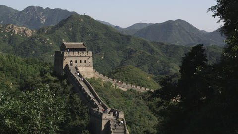 Tower at the Great Wall of China in the Badaling section Live Action