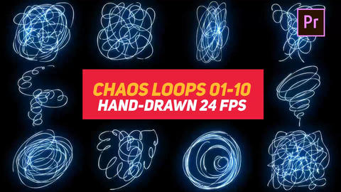 Liquid Elements Chaos Loops 01-10 Motion Graphics Template