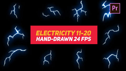 Liquid Elements Electricity 11-20 Motion Graphics Template