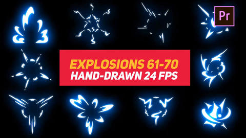 Liquid Elements Explosions 61-70 Motion Graphics Template