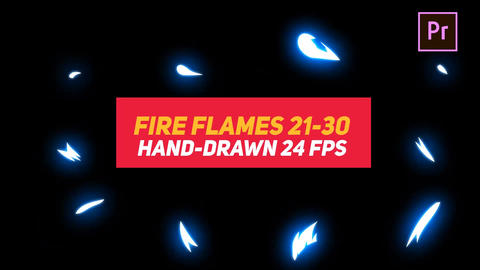 Liquid Elements Fire Flames 21-30 Motion Graphics Template