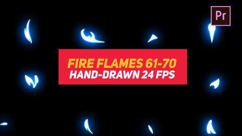 Liquid Elements Fire Flames 61-70 Motion Graphics Template