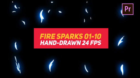Liquid Elements Fire Sparks 01-10 Motion Graphics Template