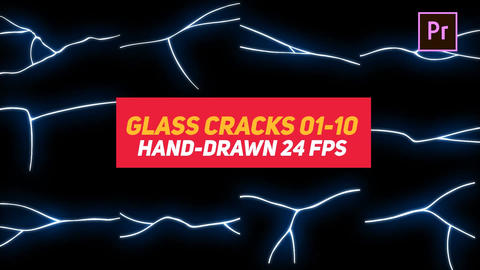 Liquid Elements Glass Cracks 01-10 Motion Graphics Template