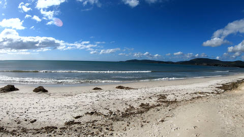 Panoramic view of Maria Pia beach on a clear day Live Action
