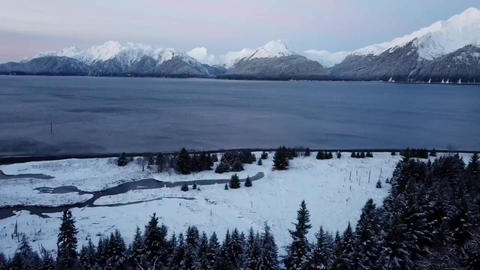 Views of a bay in Alaska Live Action