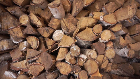 FireWood in the woodpile. Close up Archivo