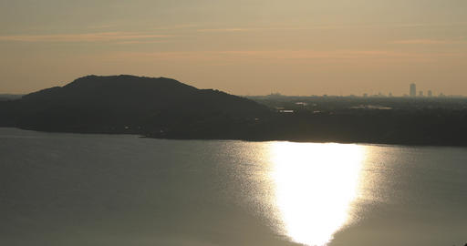 Morning sunrise at Lake Hamana in Shizuoka Japan including copy space Footage