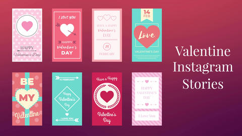 Valentine Instagram Stories After Effects Template