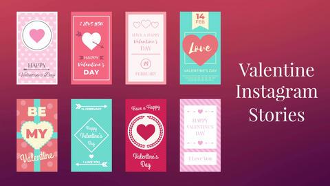 Valentine Instagram Stories After Effectsテンプレート
