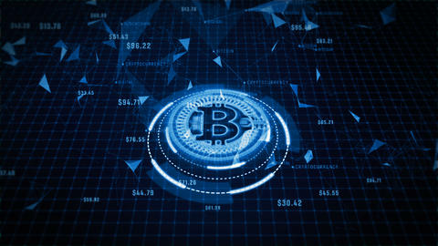 Bitcoin cryptocurrency 00233 Animation