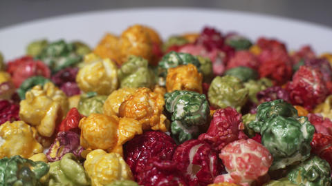 Rotating Colored Popcorn Stock Video Footage
