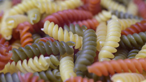 Colorful Pasta Stock Video Footage