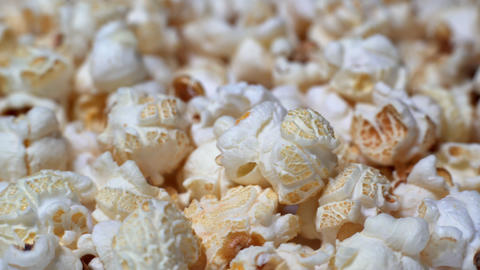 Rotating Popcorn With Caramel Stock Video Footage